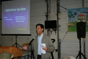 Senator Dr. Richard Pan talked about  legislation at the capital