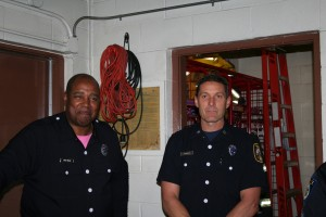 Station 60 Crew Engineer Douglas Bruce and Captain Michael Thornburg help with the event.
