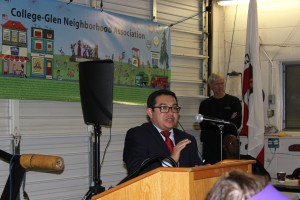 Council member Guerra talked about general up- grade to the area and the PODs.