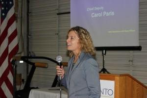 County Probation Division Chief Carol Paris
